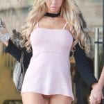 Playboy playmate Daisy Lea caught on street