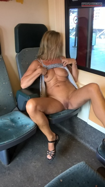bottomless sexydipie: In the train