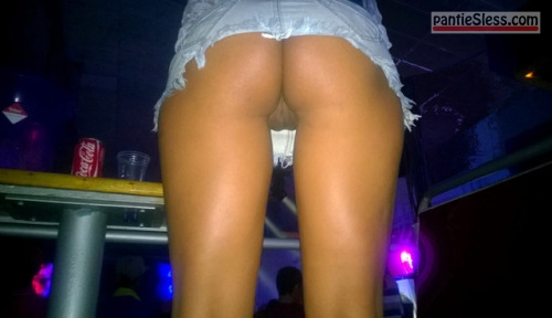 voyeur upskirt shaved pussy pussy flash public flashing bottomless ass flash  Nigh club voyeur caught juicy cunt under short denim skirt