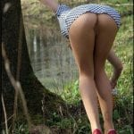 No panties under red dress – bent over GF in high heels