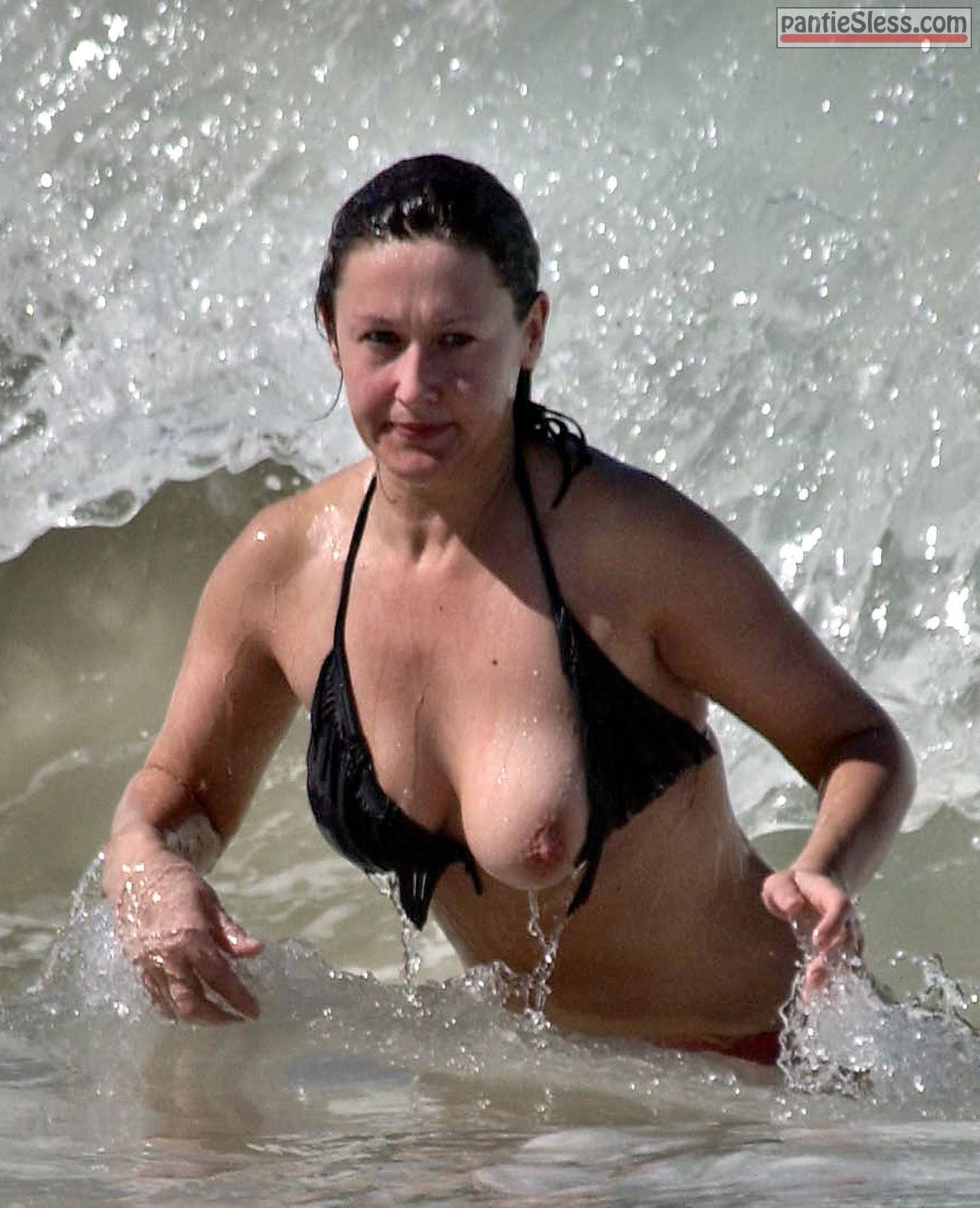 voyeur public flashing nip slip milf boobs flash accidental flash  Bikini boob slip accident in the sea for MILF