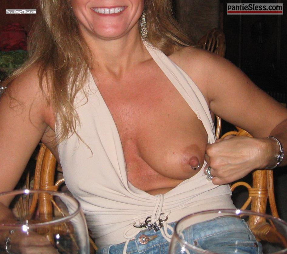 pierced milf mature boobs flash  Nothing is juice as mature pierced nipple