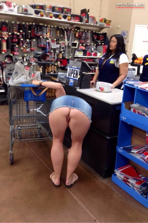 upskirt public flashing milf bottomless ass flash  Very short denim dress bend over flashing