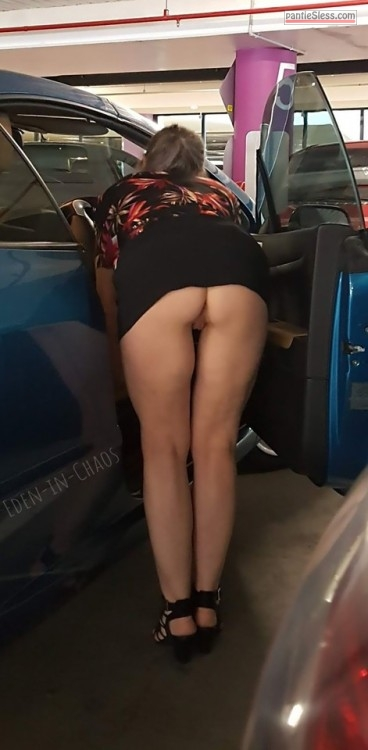 upskirt public flashing prostitute milf hotwife bottomless ass flash  My slut wife asking strangers about parking spot
