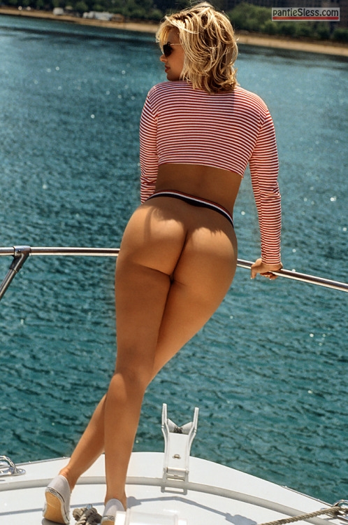 voyeur public flashing hotwife bottomless blonde ass flash  Bottomless blonde wife showing off her perfect body on yacht